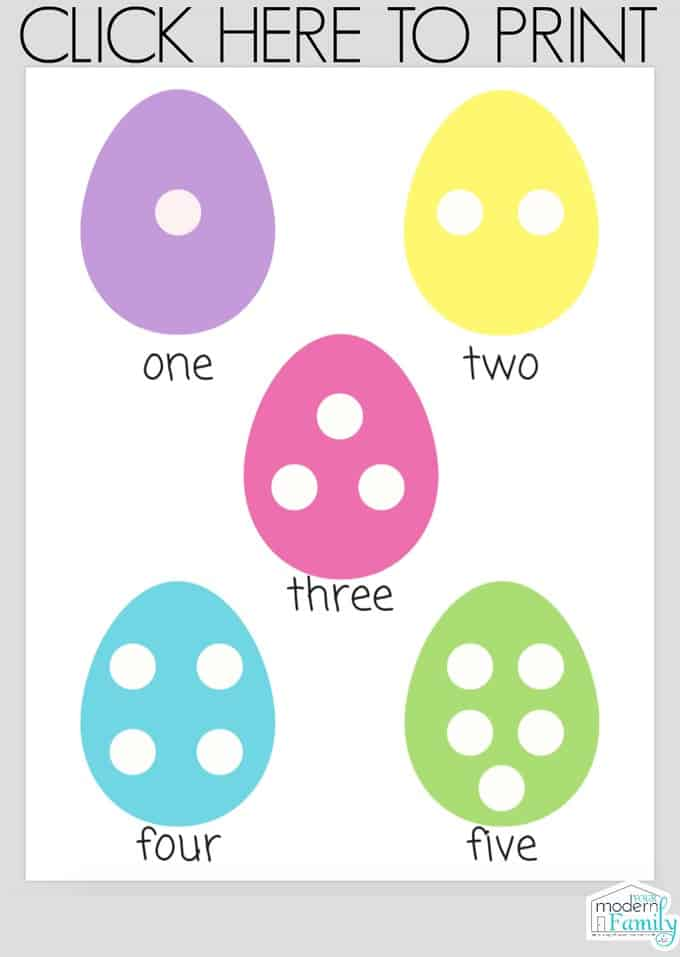 Easter Worksheets for Preschoolers or Kindergarteners (Math Counting