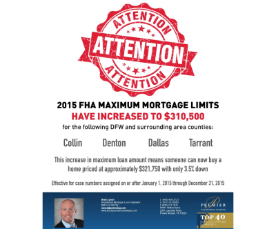 FHA Increase Maximum Mortgage 2015 | Your Mortgage Guy For Life