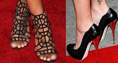 Rihannas Sexy Feet And Nude Legs In Hot High Heels