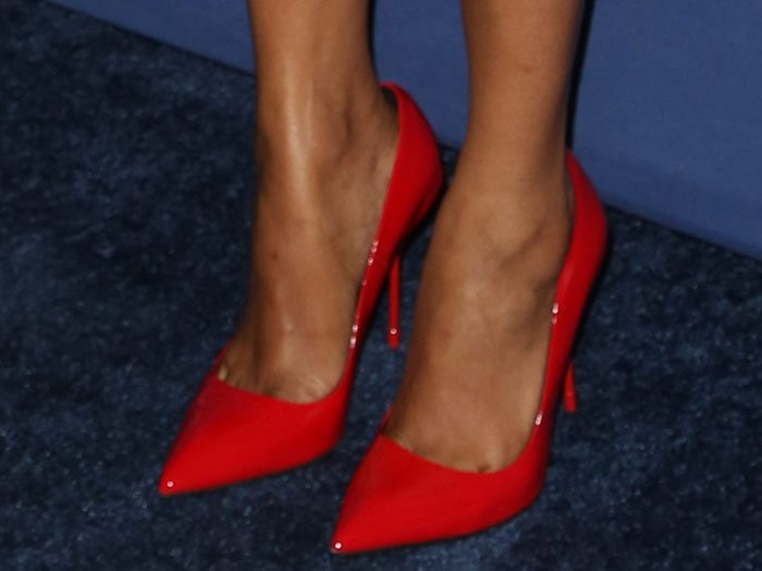 Zoe Saldana Turns Heads In All Red Outfit At Glaad Media