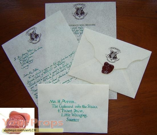 Harry Potter movies Hogwarts acceptance letter replica movie prop - hogwarts acceptance letter
