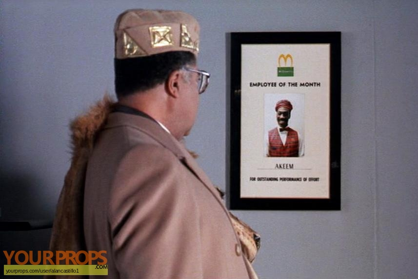 Coming To America Employee of the Month Certificate replica movie prop