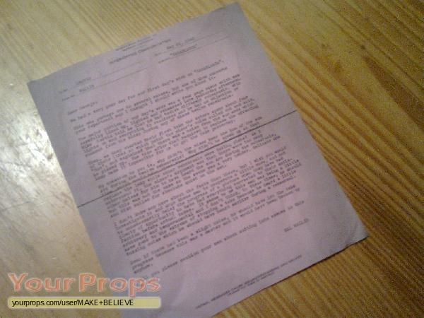 Casablanca Inter Office Communication May 26, 1942 copy replica prod
