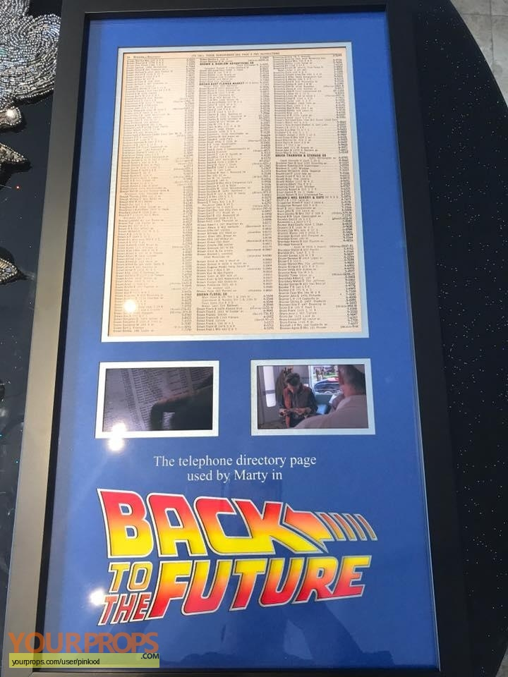 Back To The Future phonebook page containing docs browns address and