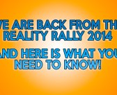 We Are Back From The Reality Rally