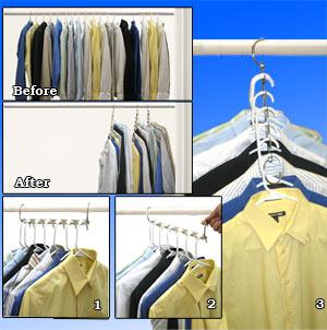 Metal Cascading Space Saving Closet Hangers 360 Swivel