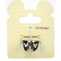 Disney Ring - Wide Crystal Mickey Icons with Initial