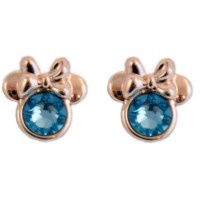 Disney Earrings - Birthstone Minnie Mouse - Rose Gold