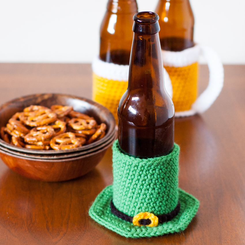Leprechaun Hat Beer Cozy - Free Crochet Pattern
