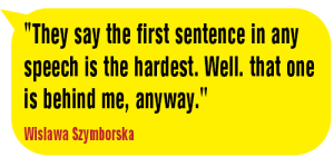 The first sentence-Wislawa