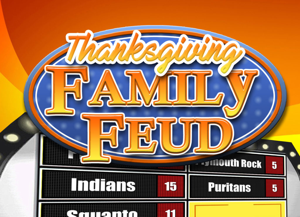Thanksgiving Family Feud Trivia Powerpoint Game - Mac and PC