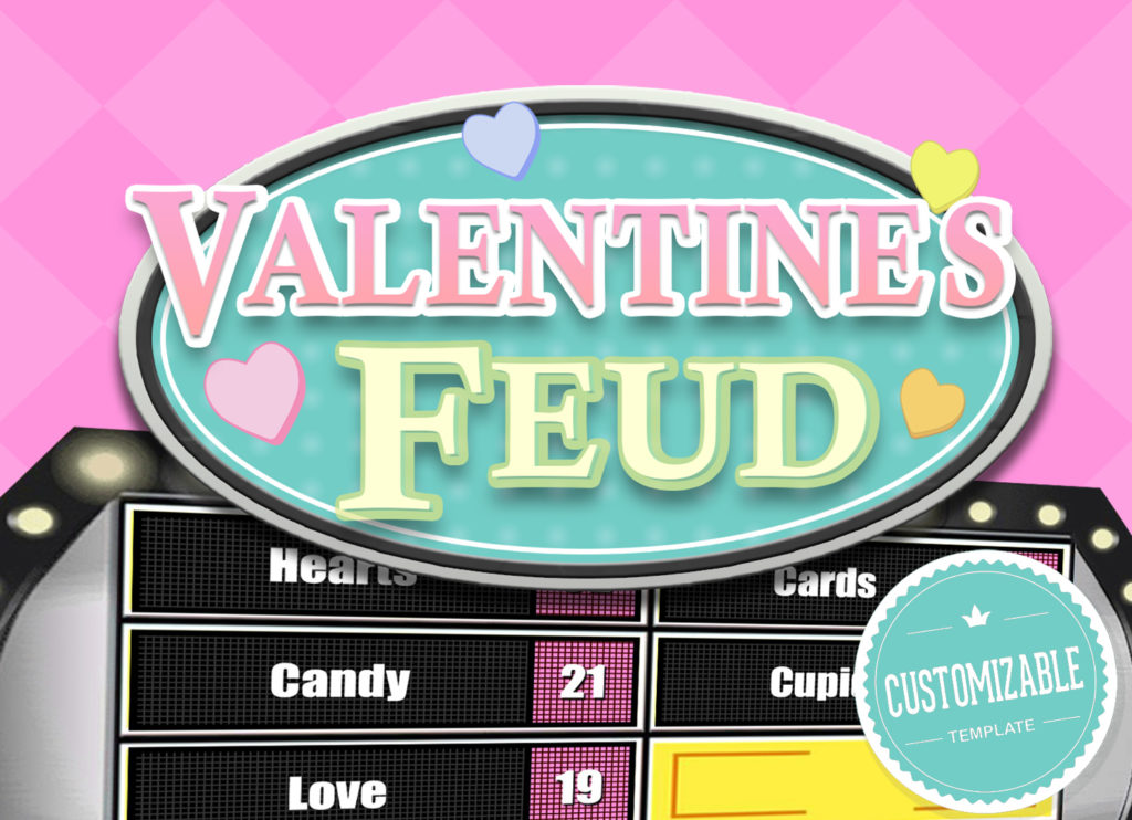 Valentine\u0027s Feud Trivia Powerpoint Game - Mac PC and iPad Compatible