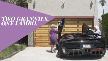 Two old ladies and a Lamborghini
