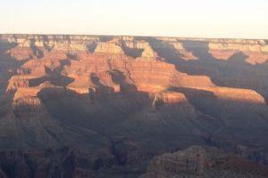 Couché de soleil sur le Grand Canyon.