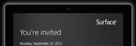 Microsoft Surface Invitation
