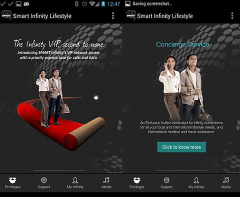 Infinity Lifestyle app