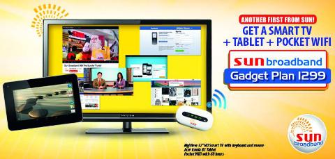 sun broadband smart tv