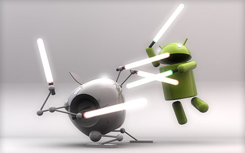 ...and the battle between iOS and Android continues. (Source: knowyourmobile.com)