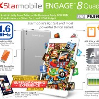 Starmobile introduces Engage 8 Quad+ Android tablet