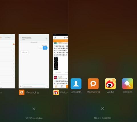 Recent Apps - MIUI 6