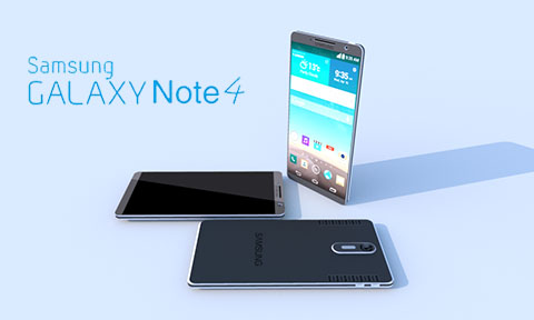 Galaxy Note 4 rendered image. (credit: rifeshare.com)
