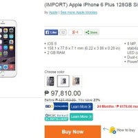 iPhone 6 selling on Lazada for at least Php64K