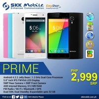 SKK Mobile Prime launched, 5-inch smartphone for Php2,999