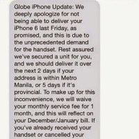 Globe iPhone 6 shipments delayed due to courier problems