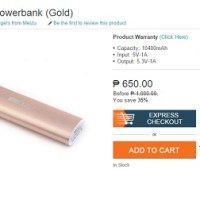 Meizu 10,400mAh power bank spotted at Lazada