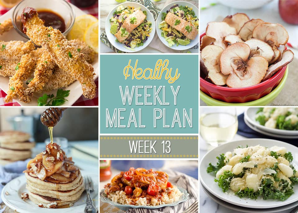 Healthy Weekly Meal Plan #13 - Yummy Healthy Easy - breakfast lunch and dinner meal plan for a week