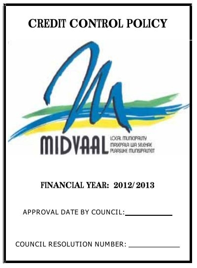 CREDIT CONTROL POLICY - Midvaal Local Municipality