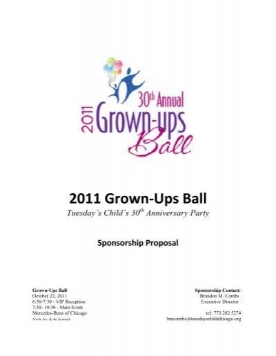 View the Sponsorship Proposal - Tuesday\u0027s Child