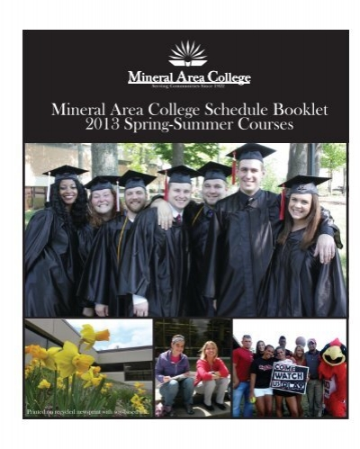 Mineral Area College Schedule Booklet 2013 Spring-Summer Courses