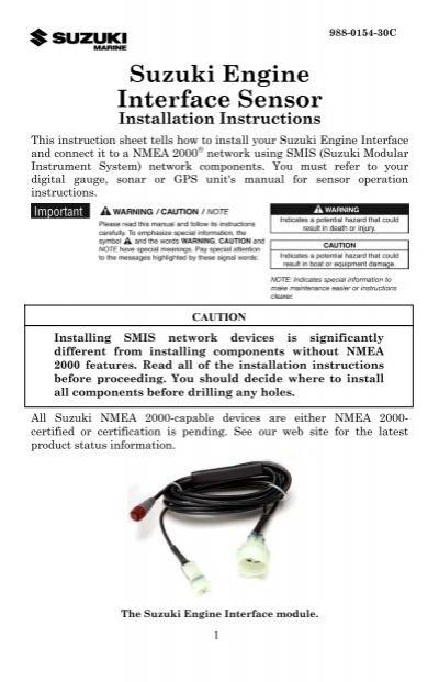 Suzuki Engine Interface Sensor - Browns Point Marine Service