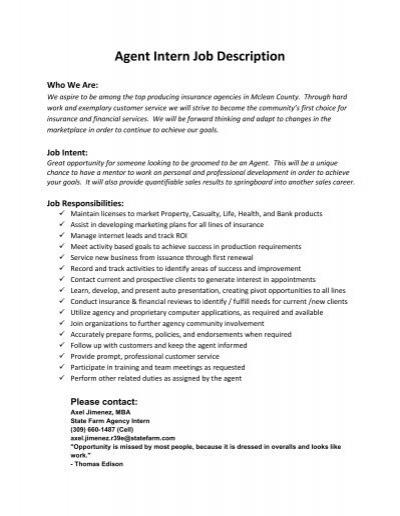 Business Intern Job Description Sample Copywriter Job Description Office  Intern Job Description   Copywriter Job Description