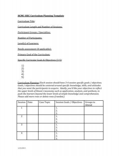 Rubicon Curriculum Template with examples - curriculum planning template