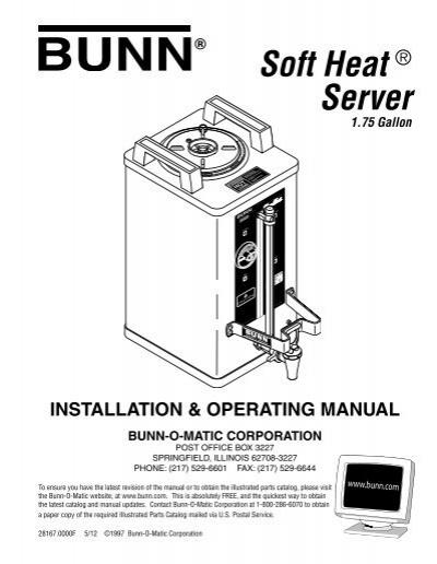 Soft Heat ® Server - Bunn