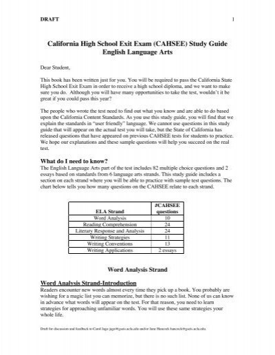 California High School Exit Exam (CAHSEE) - English Companion
