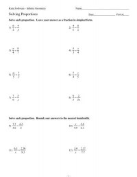 Solving Proportions Worksheet Answers. Worksheets ...