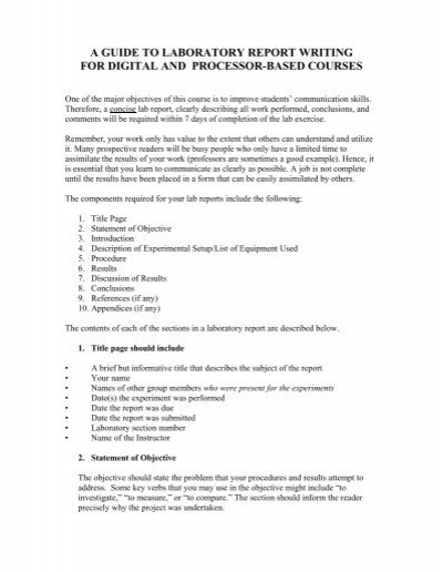 writing a formal lab report formal lab report example formal lab