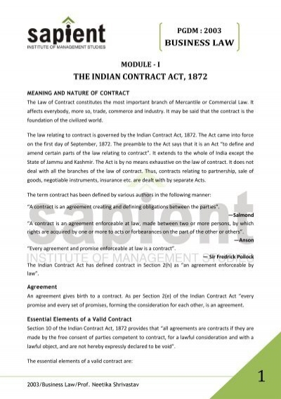Contract Important Elements | Valid Contract Essential Elements Colbro Co