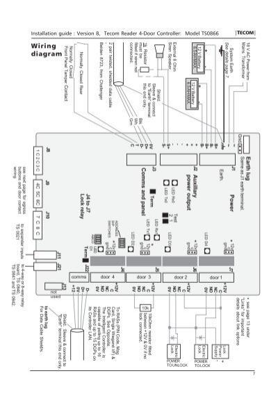 tecom challenger wiring diagram