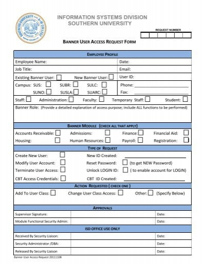 Security Access Request Form