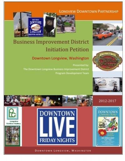 Business Improvement District Initiation Petition - City Council Agenda