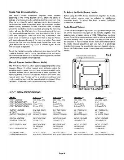Whelen 295hfs4 Wiring Diagram Model - Schema Wiring Diagram