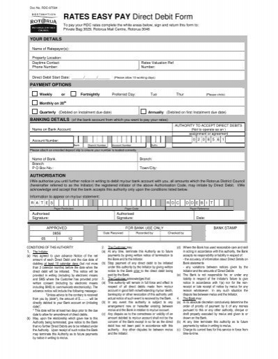 Business Rates Direct Debit mandate form - Newham - direct debit form