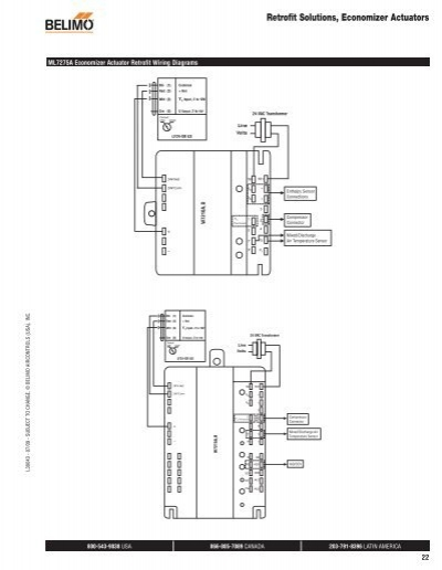 belimo actuator wiring diagram sig air handling retrofit actuator