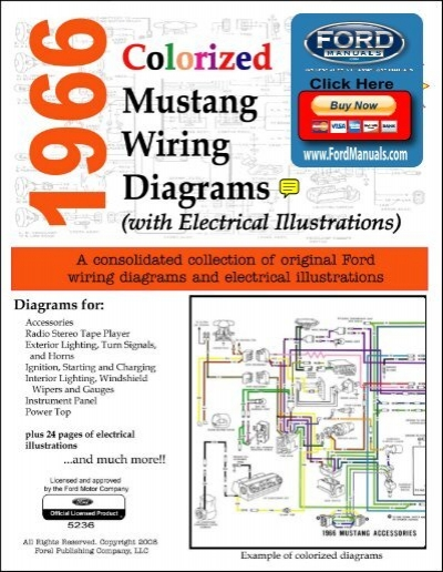 1966 Mustang Colorized Wiring Diagram Ford For Sale - Carbonvote