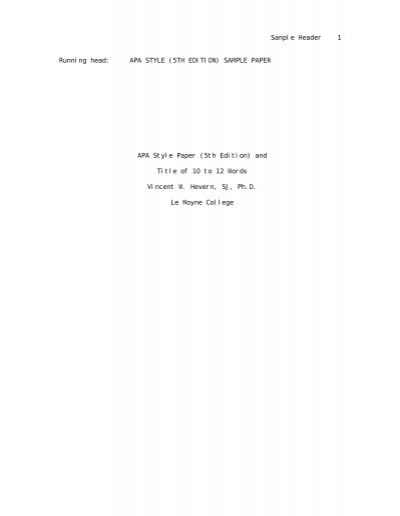apa format running head example \u2013 Tips For Life