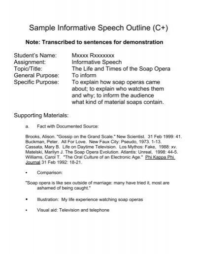 3 Short Story 3/ Turning - speech outline